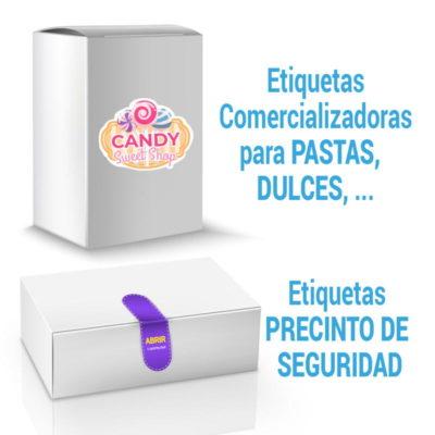 etiquetas para productos en caja de carton
