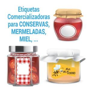 etiquetas adhesivas para tarros de mermelada, miel botes de conserva