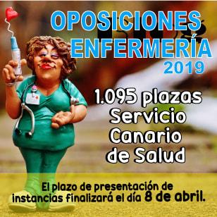 Convocatoria Enfermería Servicio Canario de Salud 2019