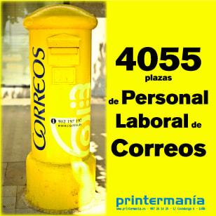 Convocatoria de 4055 plazas Personal Laboral Correos