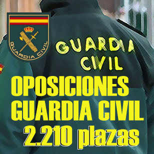 Oposiciones Guardia Civil 2019: oferta de 2.210 plazas