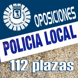 112 plazas policia municipal Madrid