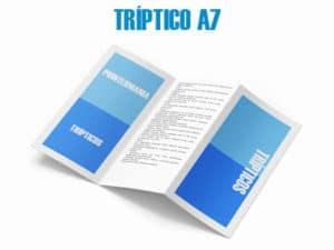 trípticos A7 online