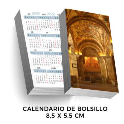 Calendarios de bolsillo 85x55 mm