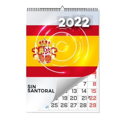 calendario laminas a4 sin santoral