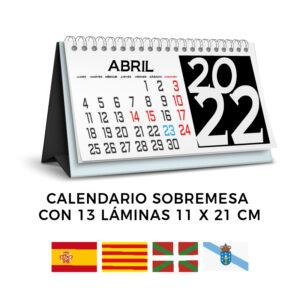 calendarios sobremesa personalizados en varios idiomas