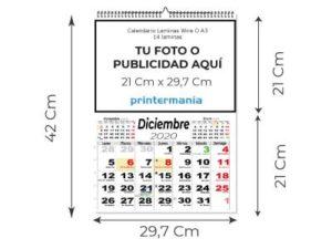 calendario pared wired o 13 láminas A3