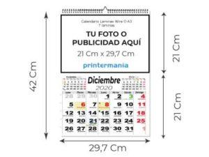calendario wire o 7 laminas A3
