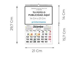 CALENDARIOS PARED A4 13 LÁMINAS