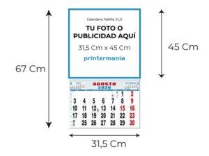 medidas calendario 31.5