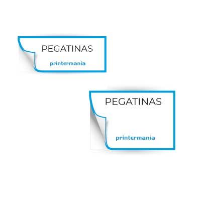 Pegatinas y etiquetas rectangulares personalizadas