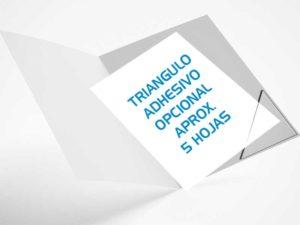 triangulo adhesivo opcional 5 hojas