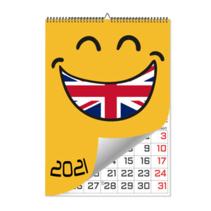 calendario pared laminas en ingles