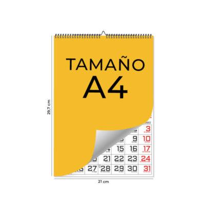 Calendarios de pared A4 – 13 Láminas Ingles