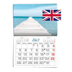 Calendario personalizado formato revista en Ingles