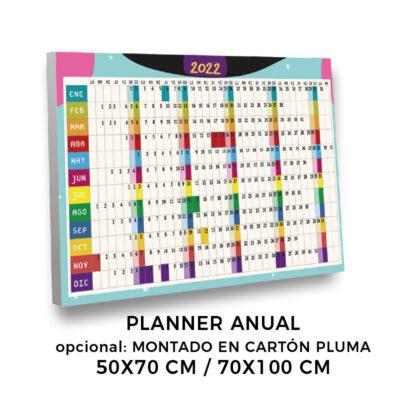 Calendario planning en cartón pluma