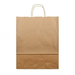 Bolsa de papel kraft marrón con asa retorcida