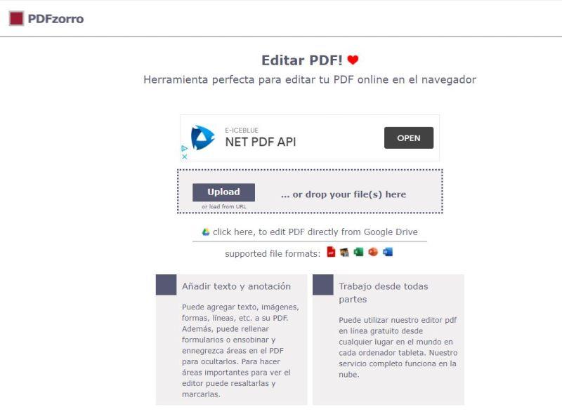 Editor pdf online PDFZorro