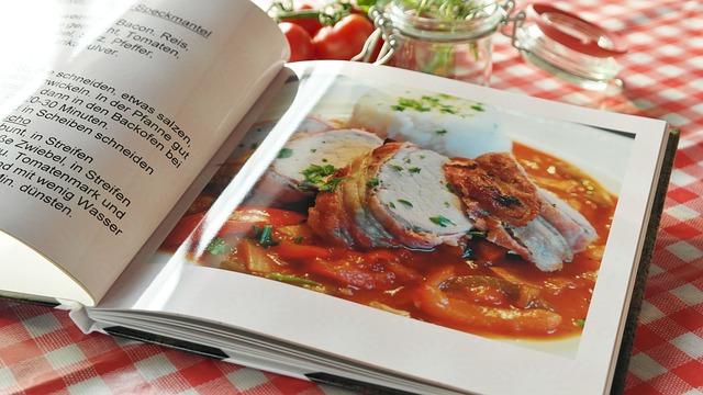 haz tus propias fotos para tu libro de cocina