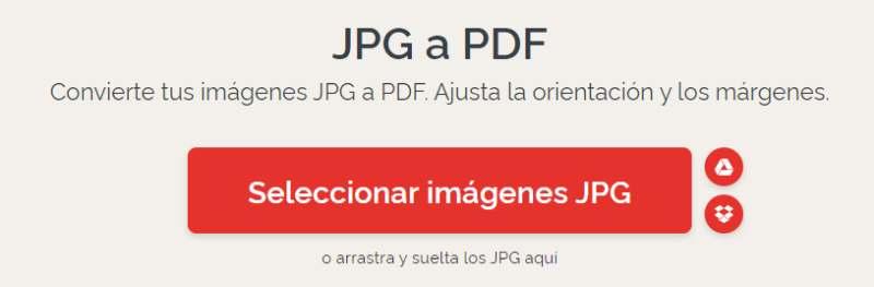 convertir jpg a pdf con ilovepdf